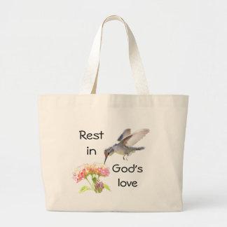 Bolsa Tote Grande Resto na sacola do amor do deus