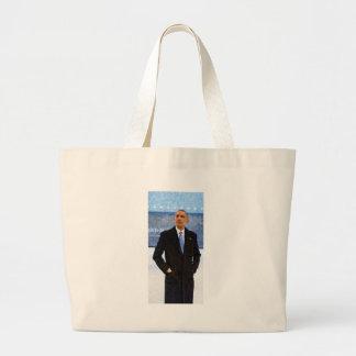 Bolsa Tote Grande Retrato abstrato do presidente Barack Obama 10
