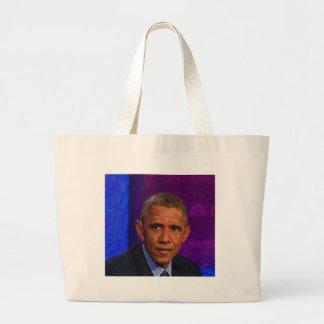 Bolsa Tote Grande Retrato abstrato do presidente Barack Obama 7