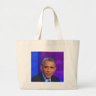 Bolsa Tote Grande Retrato abstrato do presidente Barack Obama 8 a.jp