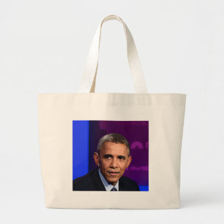 Bolsa Tote Grande Retrato abstrato do presidente Barack Obama 9