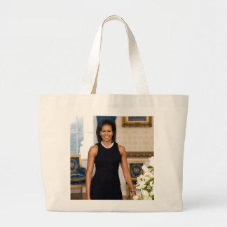 Bolsa Tote Grande Retrato oficial da primeira senhora Michelle Obama