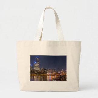 Bolsa Tote Grande Rio de Melbourne Yarra na noite