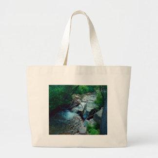 Bolsa Tote Grande Rio selvagem da floresta