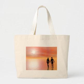Bolsa Tote Grande Romance do casal - 3D rendem