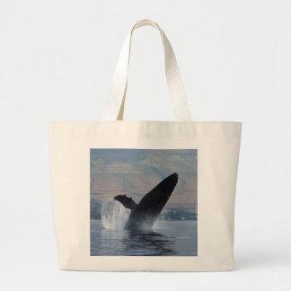 Bolsa Tote Grande rompimento da baleia de humpback
