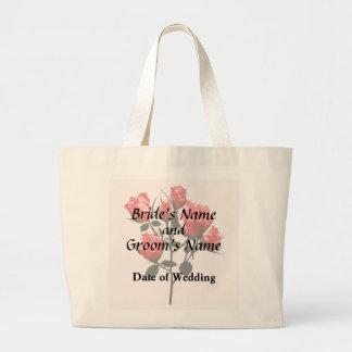 Bolsa Tote Grande Rosas cor-de-rosa escuros do bebê