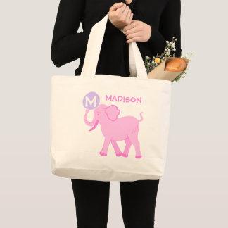 Bolsa Tote Grande Saco bonito da fralda do elefante do bebé