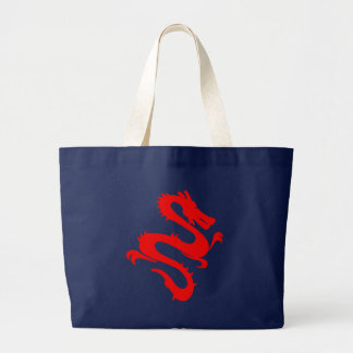 Bolsa Tote Grande Saco chinês vermelho do dragão