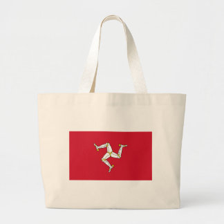 Bolsa Tote Grande Saco com a bandeira da ilha do homem