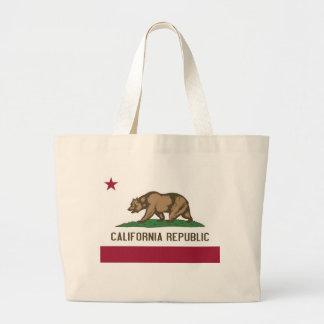 Bolsa Tote Grande Saco com a bandeira do estado de Califórnia - EUA