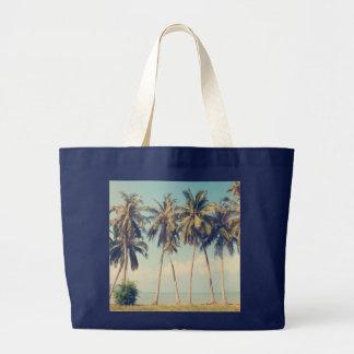 Bolsa Tote Grande Saco das férias da praia da palmeira