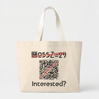 Bolsa Tote Grande Saco de compras personalizado com seu ZWOOKY-ID