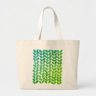 Bolsa Tote Grande Saco de confecção de malhas verde