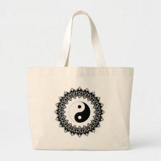 Bolsa Tote Grande Saco do jumbo de Yin Yang da mandala