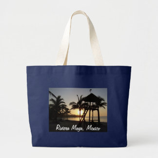 Bolsa Tote Grande Saco do mar das caraíbas de Cancun México do Maya