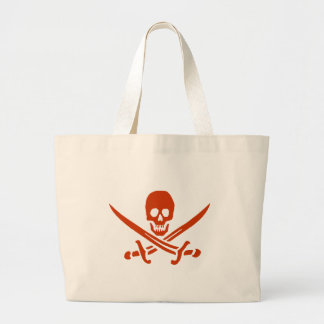 Bolsa Tote Grande Saco do montante do pirata no vermelho