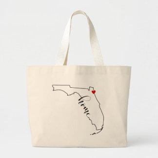 Bolsa Tote Grande Saco Home de Florida Jacksonville
