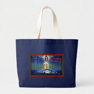 "Bolsa Tote Grande Sacola bíblica do ""Natal"" dos sinais grande"