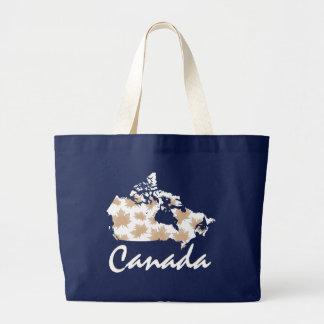 Bolsa Tote Grande Sacola canadense da folha de Canadá do bordo do
