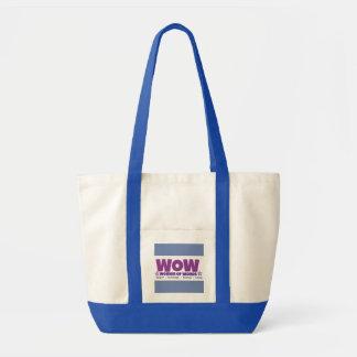 Bolsa Tote Grande sacola com correias azuis e acentos