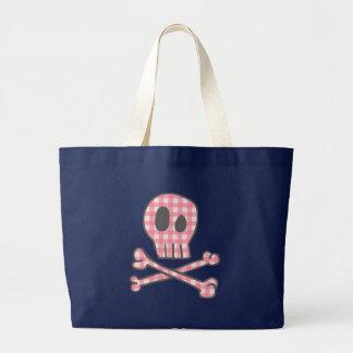 Bolsa Tote Grande Sacola cor-de-rosa do pirata do guingão