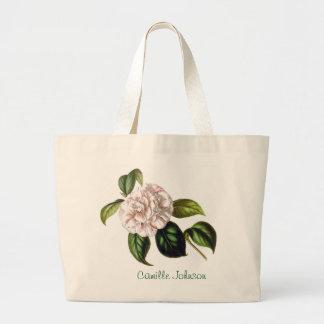 Bolsa Tote Grande Sacola da flor de Camilo