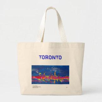 Bolsa Tote Grande Sacola da skyline de Toronto