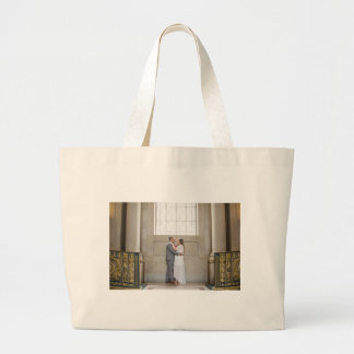 Bolsa Tote Grande Sacola do casamento de Allison & de Edgar