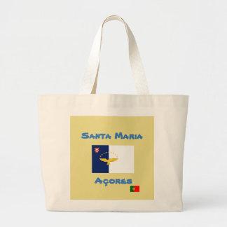Bolsa Tote Grande Sacola do costume de Santa Maria Açores