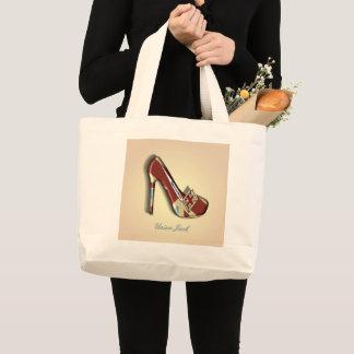 Bolsa Tote Grande Sacola do design do tema dos calçados de Union