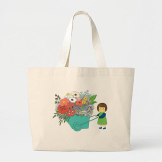 Bolsa Tote Grande Sacola do mercado com design do florista
