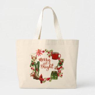 Bolsa Tote Grande Sacola do Natal do caminhante