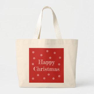 Bolsa Tote Grande Sacola do Natal feliz