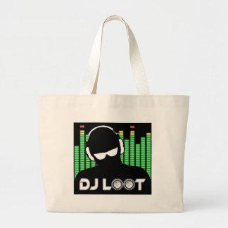 Bolsa Tote Grande Sacola do pilhagem do DJ grande