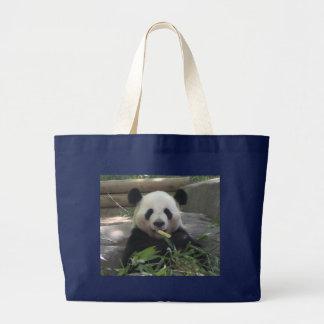 Bolsa Tote Grande Sacola do urso de panda no preto