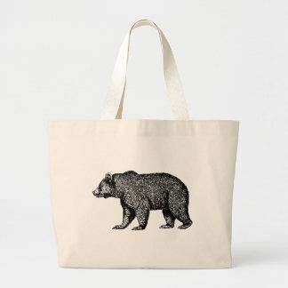 Bolsa Tote Grande Sacola do urso de urso