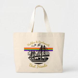 Bolsa Tote Grande Sacola dos amigos de Halifax Dartmouth do orgulho
