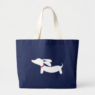 Bolsa Tote Grande Sacola formal do cão de Doxie do Dachshund do