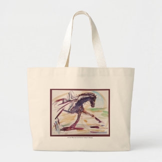Bolsa Tote Grande Sacola para amantes do cavalo