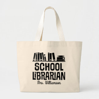 Bolsa Tote Grande Sacola personalizada do livro do bibliotecário de