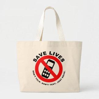 Bolsa Tote Grande Salvar vidas não falam não fazem movimentação do