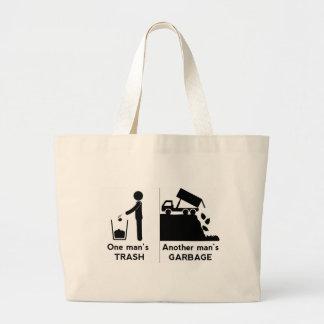 Bolsa Tote Grande Se equipa o lixo