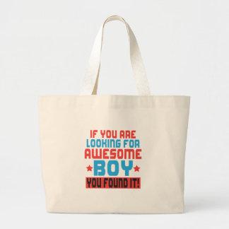 Bolsa Tote Grande Se você está procurando o menino impressionante,
