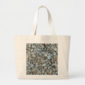Bolsa Tote Grande Seixos na fotografia da pedra da praia
