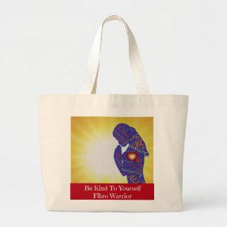 Bolsa Tote Grande Seja amável a o senhor mesmo sacola fibro do