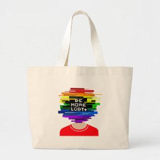 Bolsa Tote Grande Seja mais LGBTQ seja mais design frio