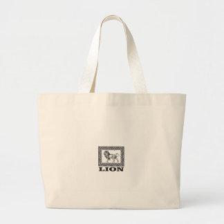 Bolsa Tote Grande selo do leão