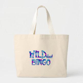 Bolsa Tote Grande Selvagem sobre o Bingo