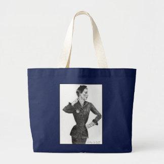 Bolsa Tote Grande senhora bonita dos anos 50